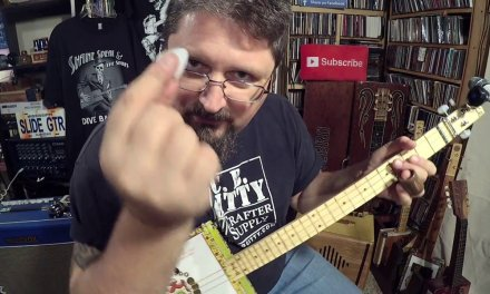 Hey Shane, show us PICKING HAND playing for blues cigar box guitar!