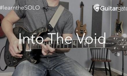 Into The Void Guitar SOLO Lesson   Black Sabbath – #learntheSOLO