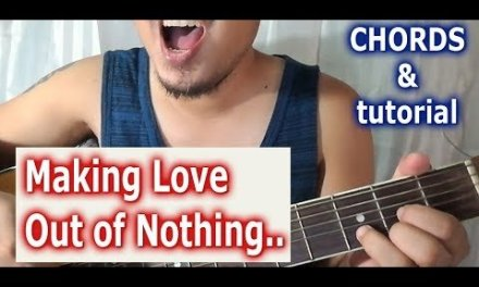Guitar tutorial chords of Making Love Out of Nothing at All (Air Supply)
