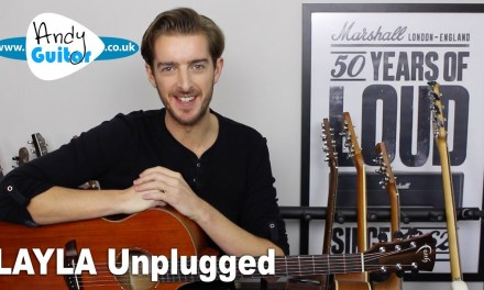 Layla Acoustic Unplugged Guitar Lesson – Eric Clapton – How to Play on Guitar