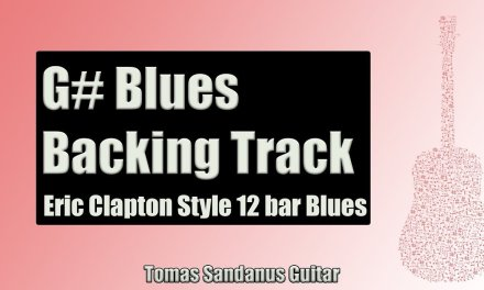 Eric Clapton Style 12 Bar Shuffle | Guitar Backing Track Jam in G# Blues with Chords |G# Blues Scale