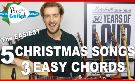 5 EASY Christmas Songs with 3 Chords on Guitar