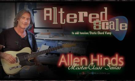 Allen Hinds NEW Lesson Package – Learn Melodic Minor Modes – Guitar Lesson