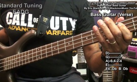 LINKIN PARK In The End Guitar Bass & Piano Lesson COMBINED EEMusicLIVE