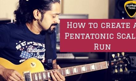 Guitar Lesson #5 – How to make a Pentatonic Scale Run – Alternate Picking – Shred – Chandresh Kudwa
