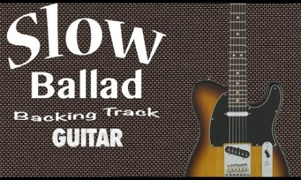Slow Acoustic Ballad Guitar Backing Track in D