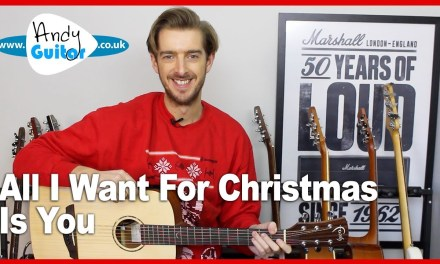 Mariah Carey – All I Want For Christmas Is You Guitar Tutorial – Easy Christmas Songs on Guitar