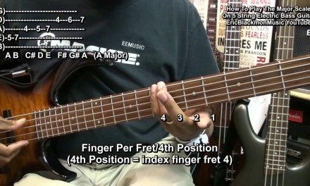 Getting Started On 5 String Electric Bass Guitar #3 HOW TO PLAY THE MAJOR SCALE