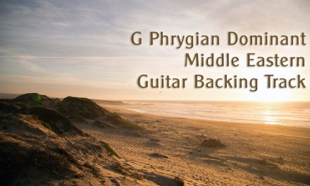 G Phrygian Dominant Arabic Guitar Backing Track 120 Bpm