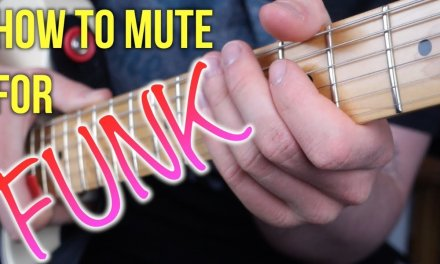 Funk Guitar Lesson – How To Mute With Your Fretting Hand