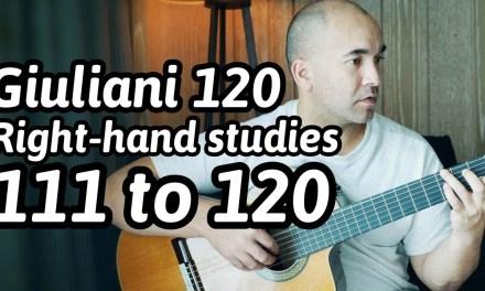 120 Guitar Arpeggios | 111 to 120 | Mauro Giuliani | Classical Guitar Lesson | NBN Guitar