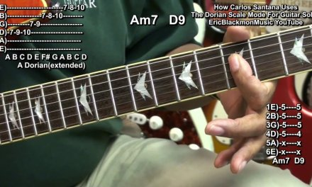 How Carlos Santana Uses The Dorian Scale Mode To Play Guitar Solo Melodies Oye Como Va