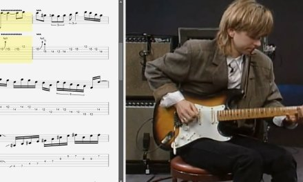 Eric Johnson – Total Electric guitar DVD outro lick – Best lick (animated tab – Fast & slow)