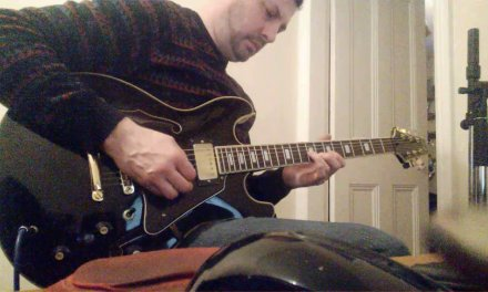 Aria pro 2 Gibson 335 style guitar, repair and setup