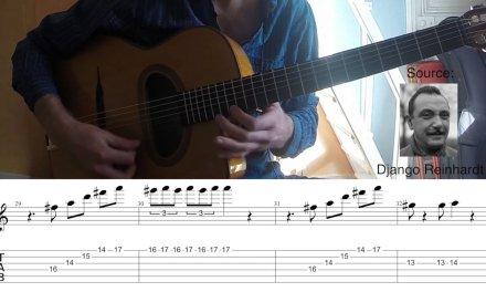 Gypsy Jazz Guitar Lesson – Rhythm Changes