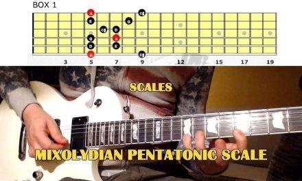 Mixolydian Pentatonic Scale GUITAR LESSON