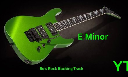 80s Rock Guitar Backing Track E Minor