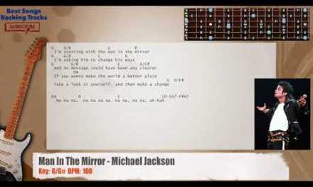 Man In The Mirror – Michael Jackson Guitar Backing Track with chords and lyrics