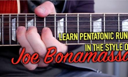 Joe Bonamassa's Pentatonic Sequences