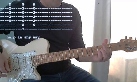 Help! The Beatles, Guitar lesson (Tabs and Lyrics)