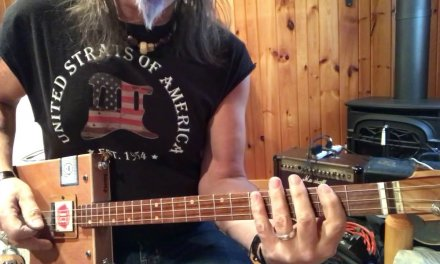Same old Blues lesson for your 3 string Cigar Box Guitar