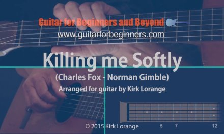 Killing Me Softly – A Fingerstyle Guitar Lesson showing the Virtual Fretboard.