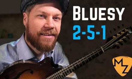 Mandolin Lesson – Bring in the Blues – Jazz  2 5 1 line