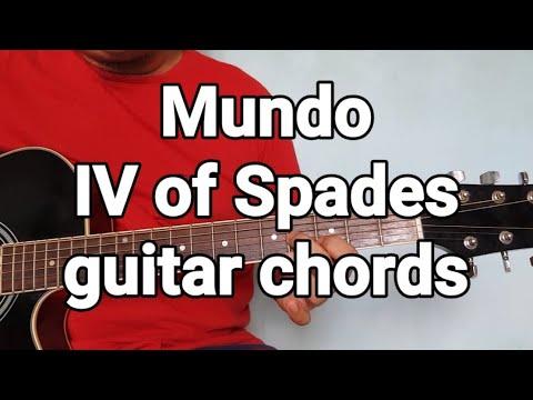 Mundo IV of Spades guitar chords | The Glog