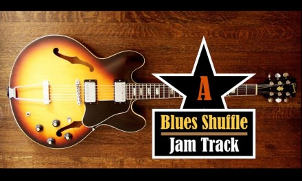Blues Shuffle // Guitar Backing Jam Track (A)