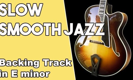 Slow Smooth Jazz Backing Track in Em