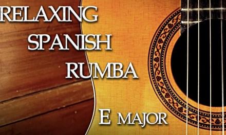 Spanish Rumba Chillout Flamenco Guitar Backing Track E Major