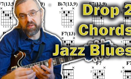 How to use Drop 2 Chords on a Jazz Blues – Bebop Skill