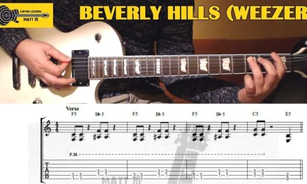 Beverly Hills (Weezer) GUITAR LESSON with TAB – EASY ROCK GUITAR SONG
