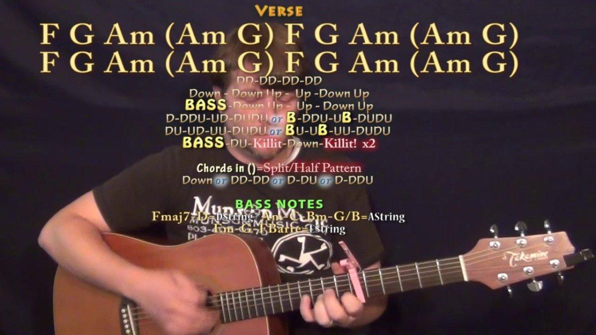 Redbone Childish Gambino Guitar Lesson Chord Chart Capo 6th
