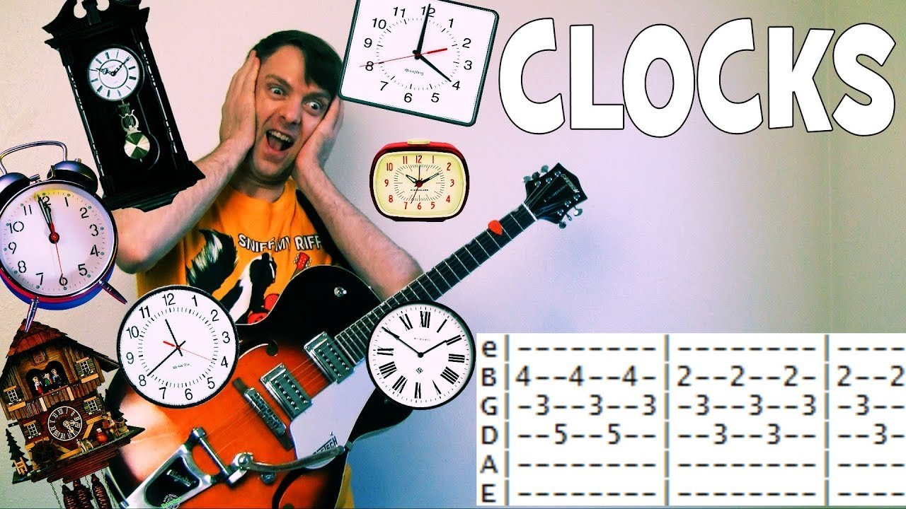 Coldplay Clocks Guitar Tab Chords Daylight Savings Day The Glog