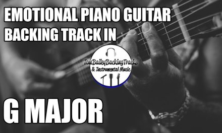 Emotional Piano Guitar Backing Track In G Major | Over You