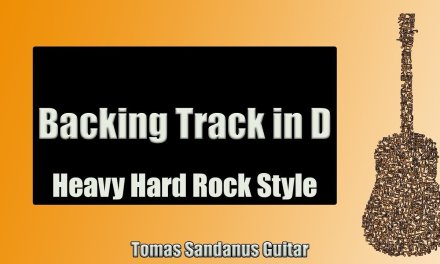 Guitar Backing Track Jam in D | Heavy Hard Rock Style