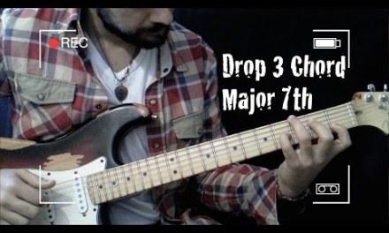 Jazz Guitar Chord – Drop 3 Chord Major 7th [[Guitar Lesson #10]] Part.3