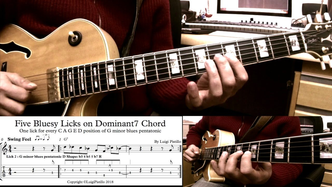 Five Bluesy lick on Dominat7 Chord | The Glog