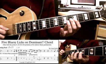 Five Bluesy lick on Dominat7 Chord