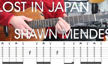 Lost in Japan, Shawn Mendes, Guitar Lesson, Tutorial, Tab, Chords, Strumming