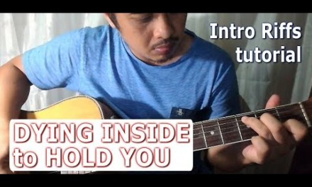 Guitar tutorial of Dying Inside to Hold You (fingerstyle intro) Darren Espanto ver