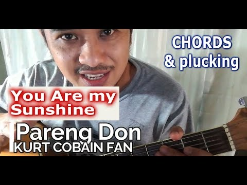 You Are My Sunshine chords and plucking tab guitar tutorial – Moira ...