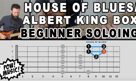 Easiest Way to Play the Pentatonic Scale – The House of Blues/Albert King Box – Beginner Soloing