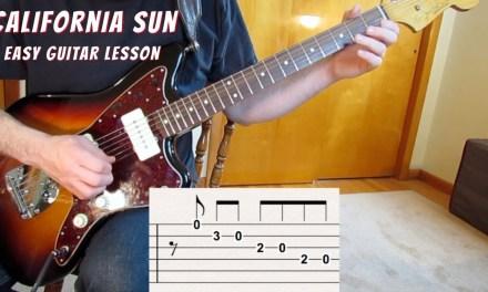 California Sun Guitar Lesson – Intro and Solo with tabs