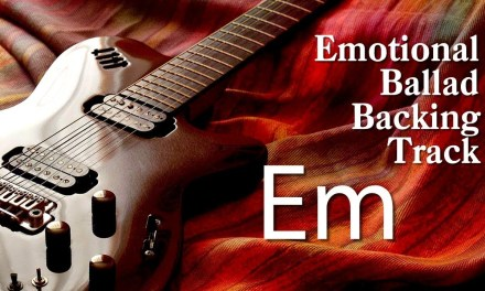 E Minor Emotional Ballad Guitar Backing Track ( 2018)