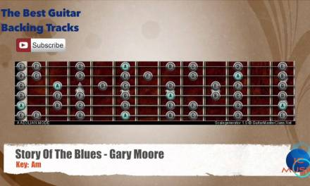 Story Of The Blues – Gary Moore Guitar Backing Track with scale chart