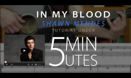 In My Blood – Shawn Mendes Easy Guitar Tutorial/Lesson + chords + tabs