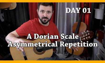 Day 1 – Challenge 1 month, 1 day, 1 master exercise – Classical Fingerstyle Guitar