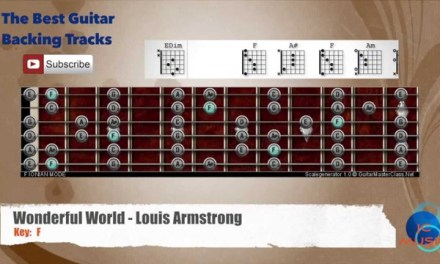 Wonderful World – Louis Armstrong Guitar Backing Track with scale chart and chords